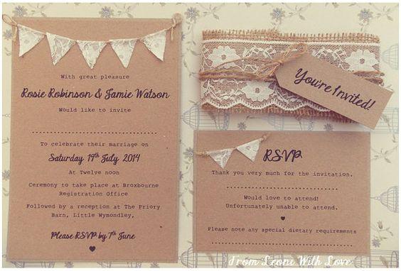 Rustic προσκλητήρια γάμου